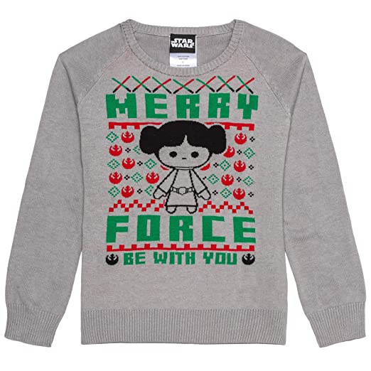 Hybrid Apparel Womens Star Wars Leia Merry Force Holiday Sweater n M