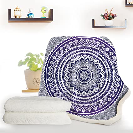 Bohemian Throw Blankets Awesome Amazon ARIGHTEX Purple Mandala Blanket Bohemian Throw Blanket