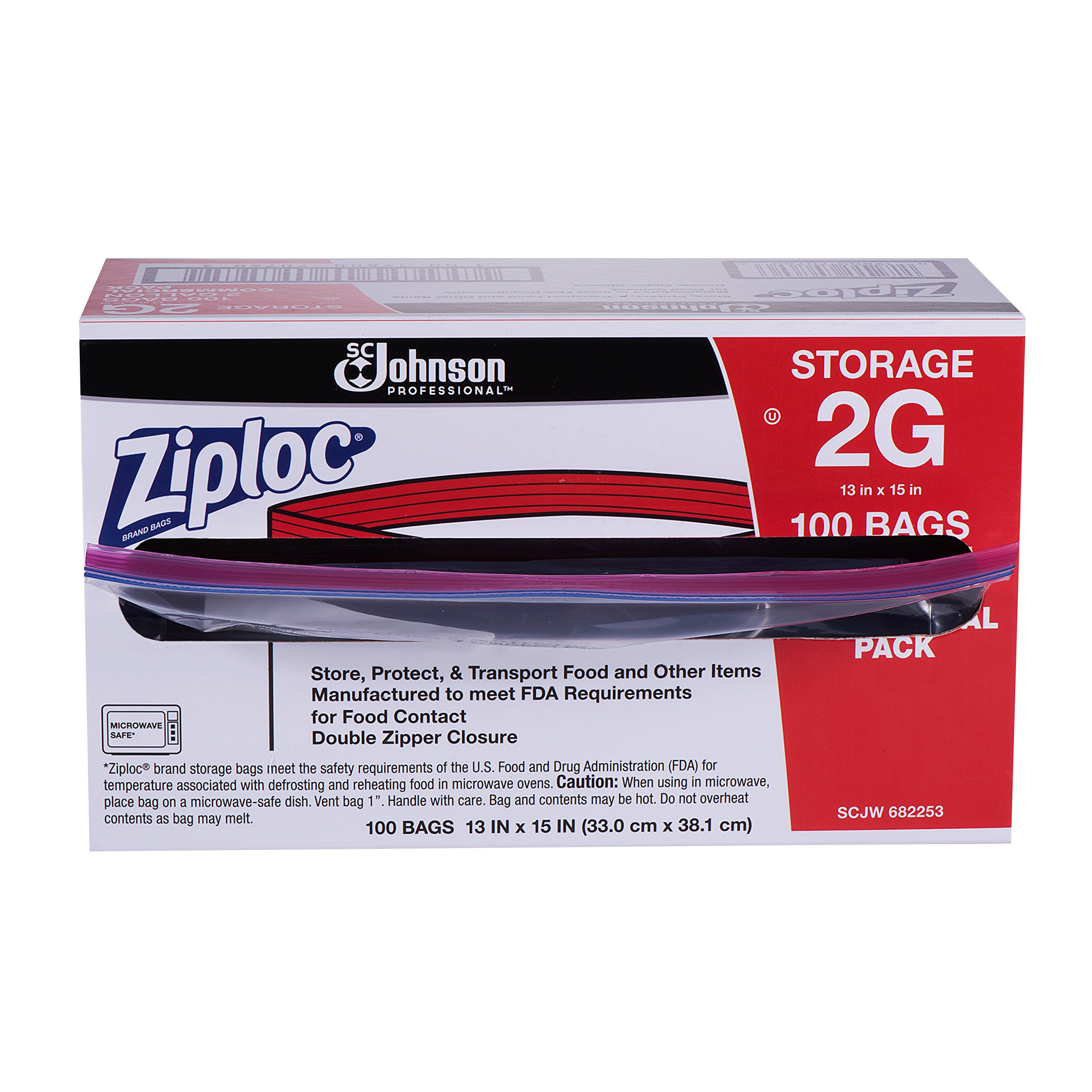 Ziploc Storage Bag, 2 Gallon, 100 ct by Ziploc