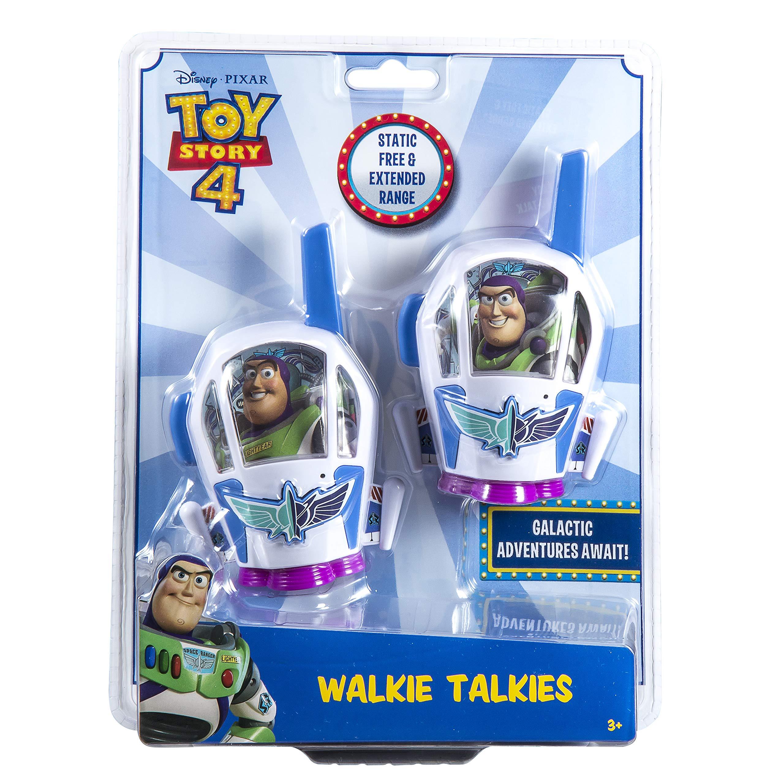 Toy Story 4 Buzz Lightyear Kids Walkie Talkies for Kids Static Free Extended Range Kid Friendly Easy to Use 2 Way Radio Toy Handheld Walkie Talkies Team Work Play Indoors or Outdoors by eKids (Image #4)
