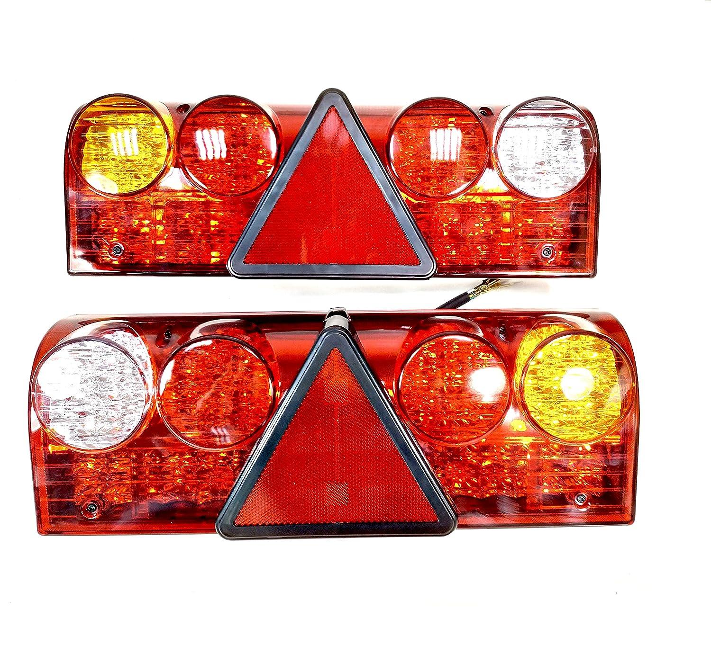 2/x universale 12/V 24/V 6/funzione LED Rear Tail rimorchio caravan luci lampade camion