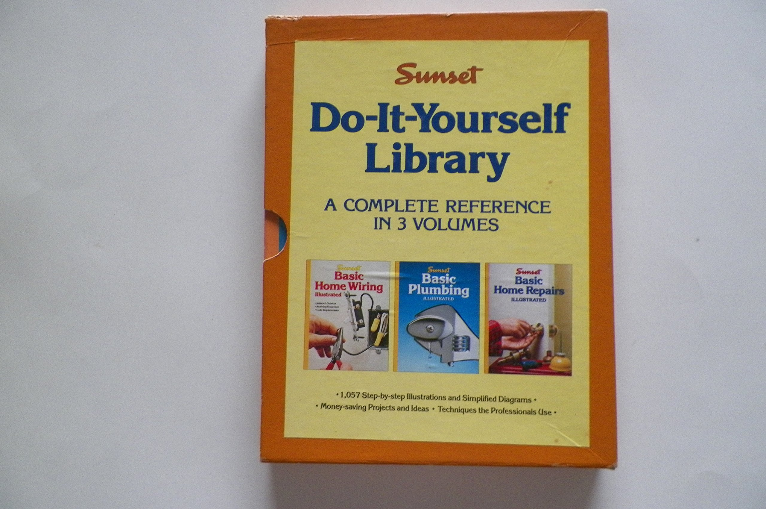 Buy Sunset Do It Yourself Library A Complete Reference Basic Home Wiring Illustrated Plumbing Repairs Book