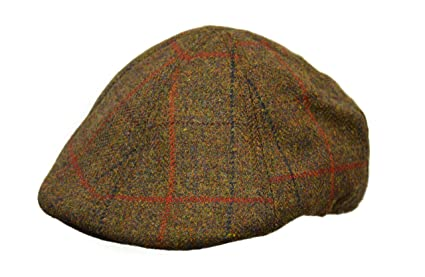 7487f92a541 Amazon.com  Crown Cap Scottish Tweed 6 Panel Duckbill Ivy Cap ...