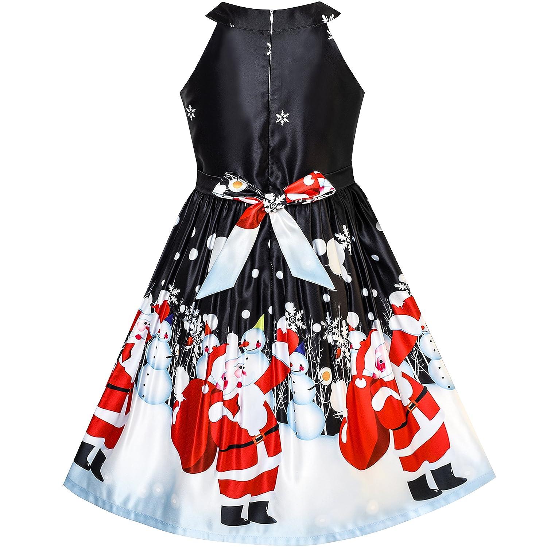 Christmas Eve Dresses.Sunny Fashion Girls Dress Christmas Eve Christmas Tree Snow Reindeer Party