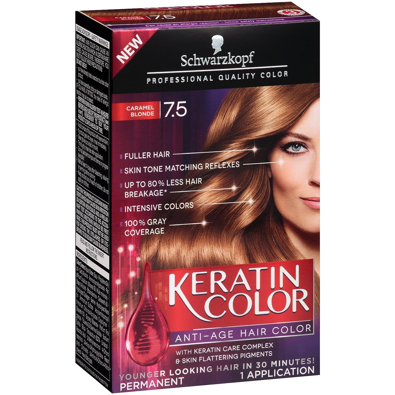 Amazon Schwarzkopf Keratin Color Anti Age Hair Color Kit 75