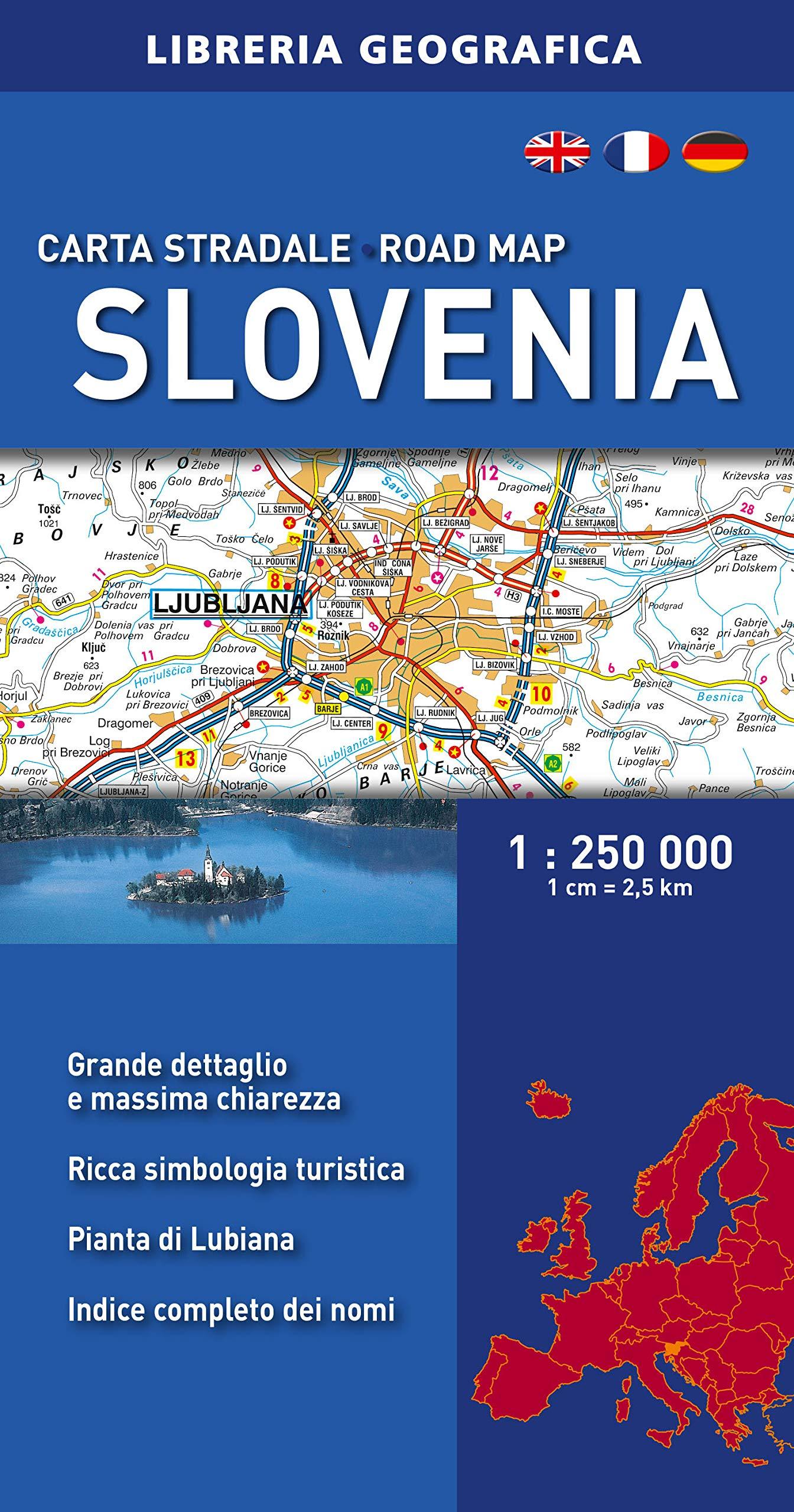 Cartina Stradale Della Slovenia.Amazon It Slovenia Carta Stradale 1 250 000 Libri