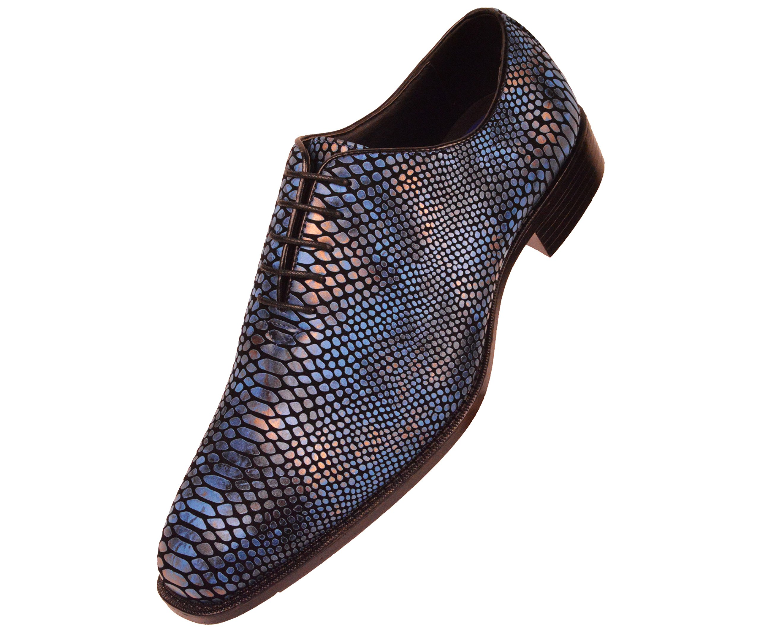 Bolano Mens Exotic Faux Snake Skin Print Oxford Dress Shoe: Style Seabrook