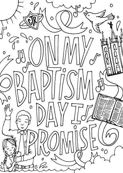 Amazon.com : Baptism Coloring Greeting Cards (6 pack) : Office Products