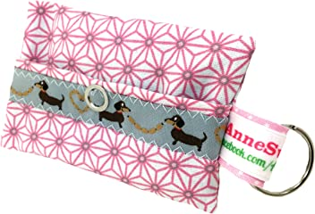 Kackbeutel rosa pink Stern Hundekotbeutel Spender Hundetüte Leckerli Tasche aus Wachstuch Gassi gehen Waste Geschenk Hundebesitzer Poop Bag Chien
