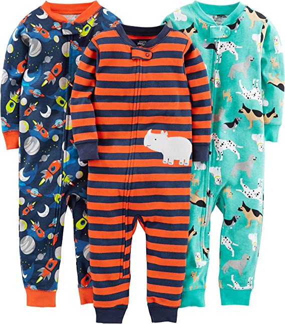 Simple Joys by Carters pijama de algodón sin pies para bebés y ...