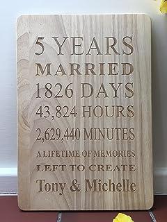 5th Wedding Anniversary Card: Amazon.co.uk: Kitchen & Home