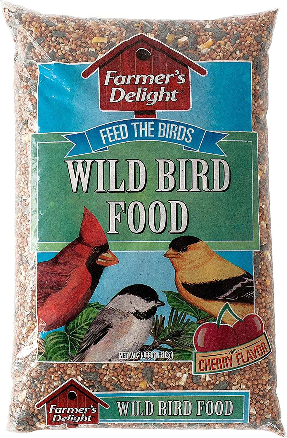 Wagner's 53001 Farmer's Delight Wild Bird Food With Cherry Flavor, 4-Pound Bag
