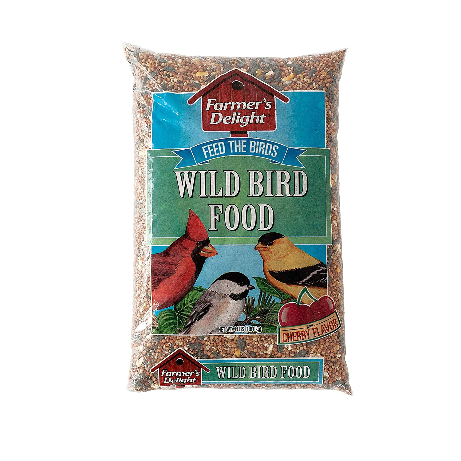 B0030ZXB8A Wagner's 53001 Farmer's Delight Wild Bird Food With Cherry Flavor, 4-Pound Bag 91mK9pWRP2BL