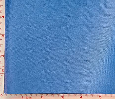 """58"""" Wide Dressmaking Poly Cotton Opaque Crafting Blue Printed Fabric By 1 Yard"""