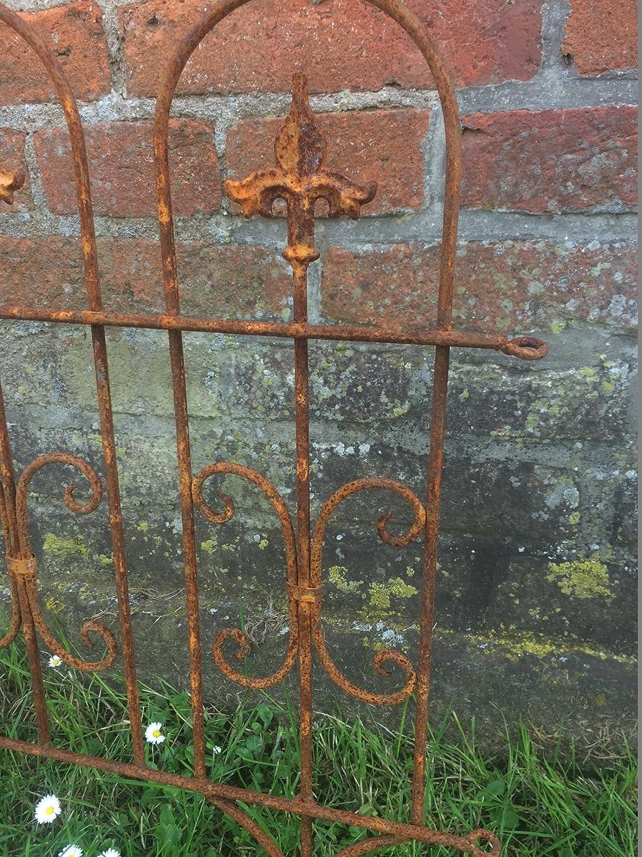 Valla Valla de jardín (Windsor pérgola metal hierro oxidado (58 cm ...