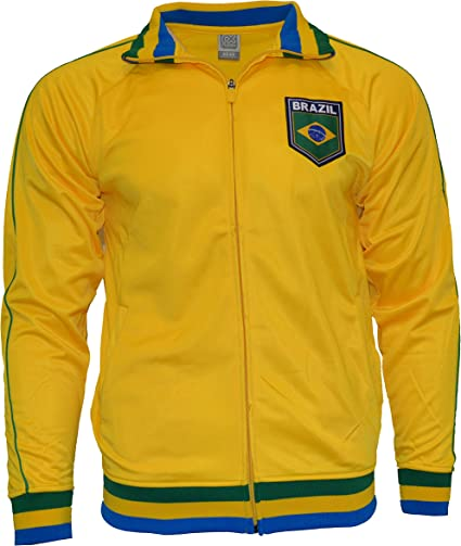 Rhinox Brasilien Jacke Brasilien Track Fußball Erwachsene Größen Brasilien Fußball Fußball Flagge