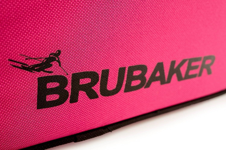 Rosa//Gris Brubaker Conjunto Super Function 2.0 Bolsa para Botas y Casco de ski Junto a Carver Pro 2.0 Bolsa para un par de Ski 170 cms /ó 190 cms.