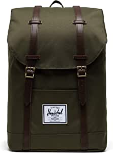 Herschel Retreat Backpack, Ivy Green/Chicory Coffee, Classic 19.5L, Retreat Backpack