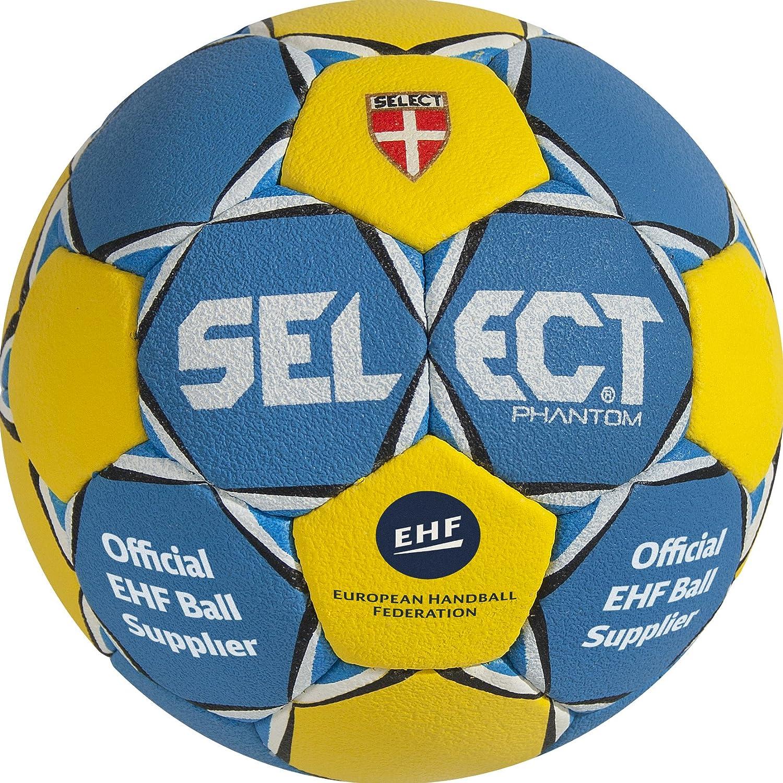 Select Phantom - Balón de balonmano, colores azul y amarillo ...