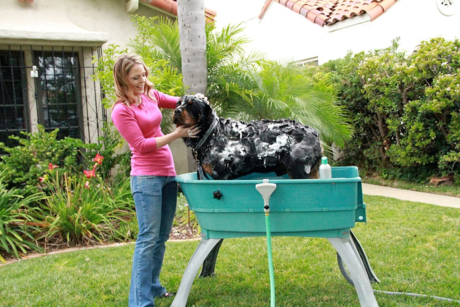 Amazon Com Booster Bath Elevated Pet Bathing Large Pet Shower