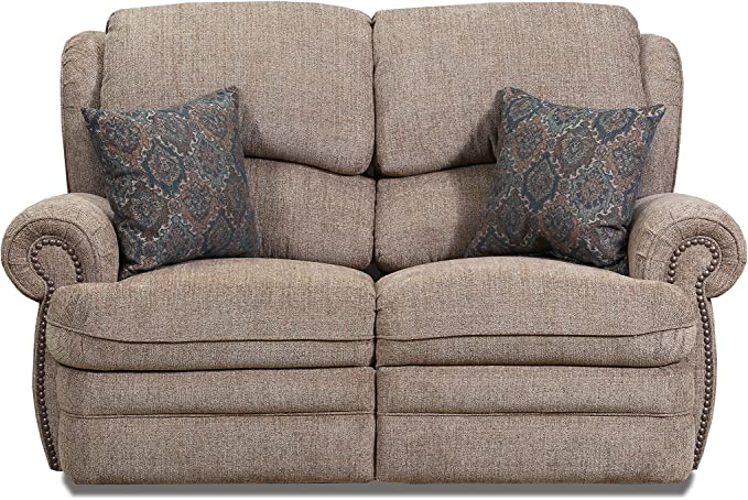 Lane Home Furnishings 57000-52 Sophie Cappuccino Double Motion Loveseat,