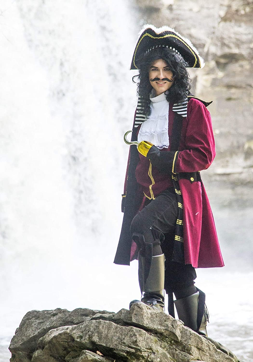 Deluxe Captain Hook Costume Mens Pirate Costume