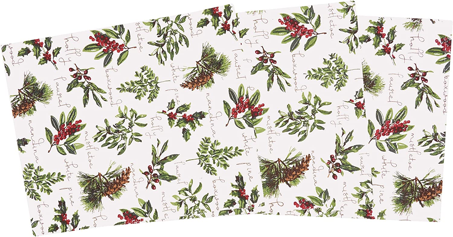 C&F Home Winter Botanical Table Runner Cotton Holiday Winter Holly Berry Tablelinen for Dinners Everyday Use 13 x 72 Table Runner Green