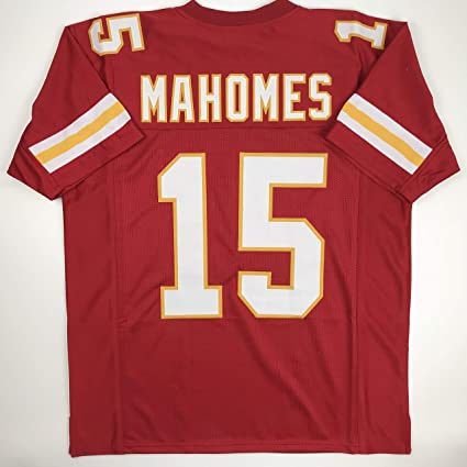 2e339840ec7 Unsigned Patrick Mahomes Kansas City Red Custom Stitched Football Jersey  Size Men's XL New No Brands