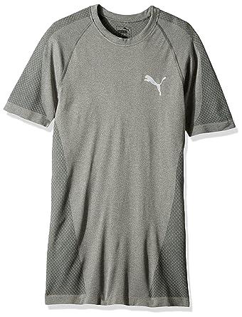 PUMA Men's Evoknit Better T-Shirt, Medium Gray Heather, X-Small