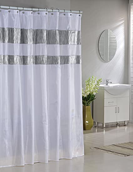Image Unavailable Not Available For Color Faux Silk Fabric Shower Curtain