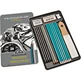 Prismacolor Premier Graphite Drawing Pencils with Erasers & Sharpeners, 18-Piece Set