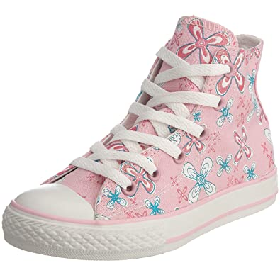 ba483f8ab9e Converse Junior Chuck Taylor All Star Flower Print HI Lace-Up Pink Lady  Flowers 614149 10 Child UK  Amazon.co.uk  Shoes   Bags