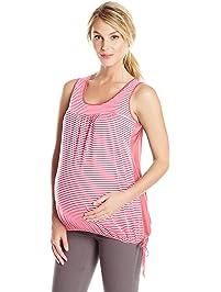 abd14495c8e3d Three Seasons Maternity Women s Maternity Sleevless Stripe Side Tie Top