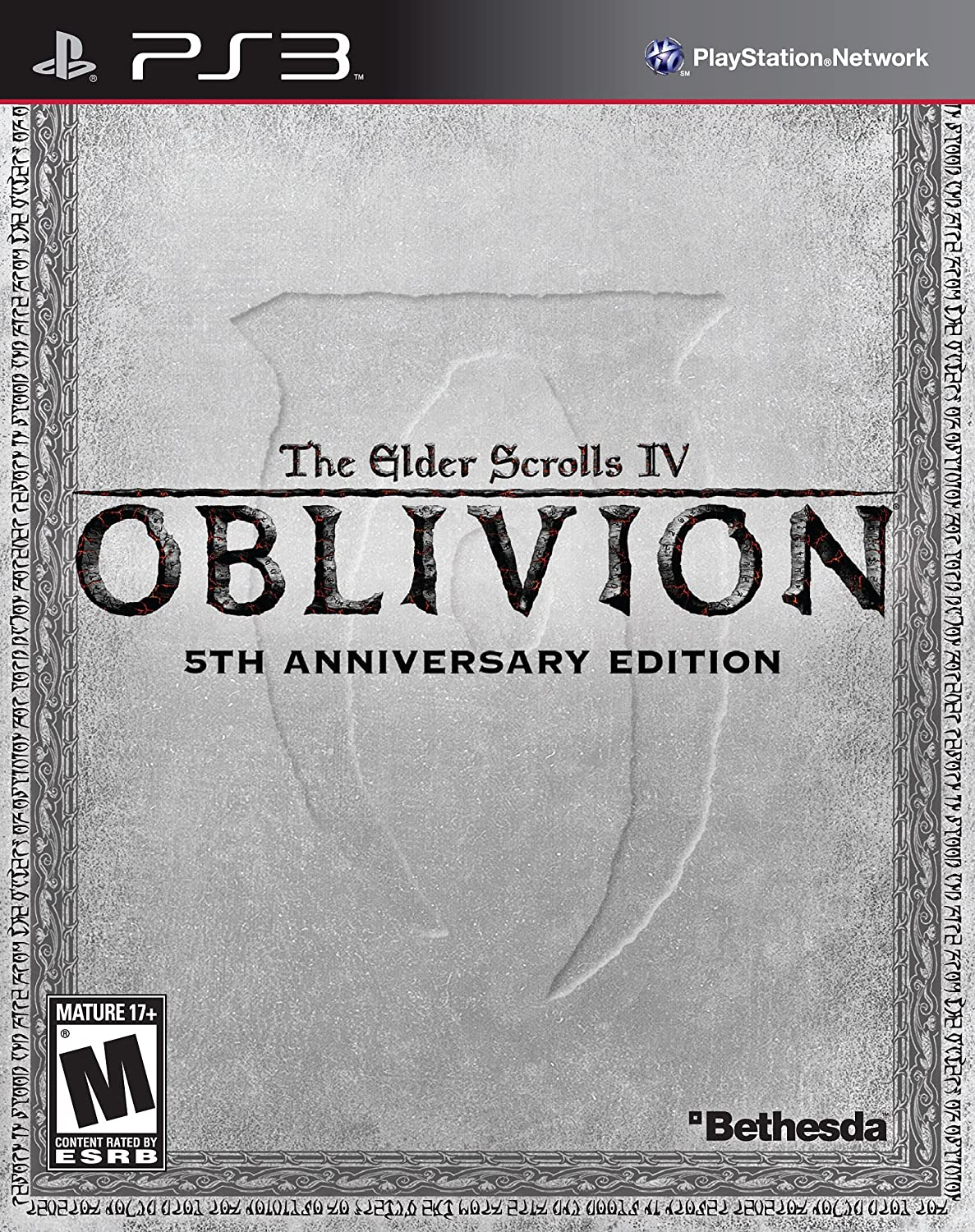 Amazon.com: The Elder Scrolls IV: Oblivion - 5th Anniversary Edition - Playstation  3: Video Games
