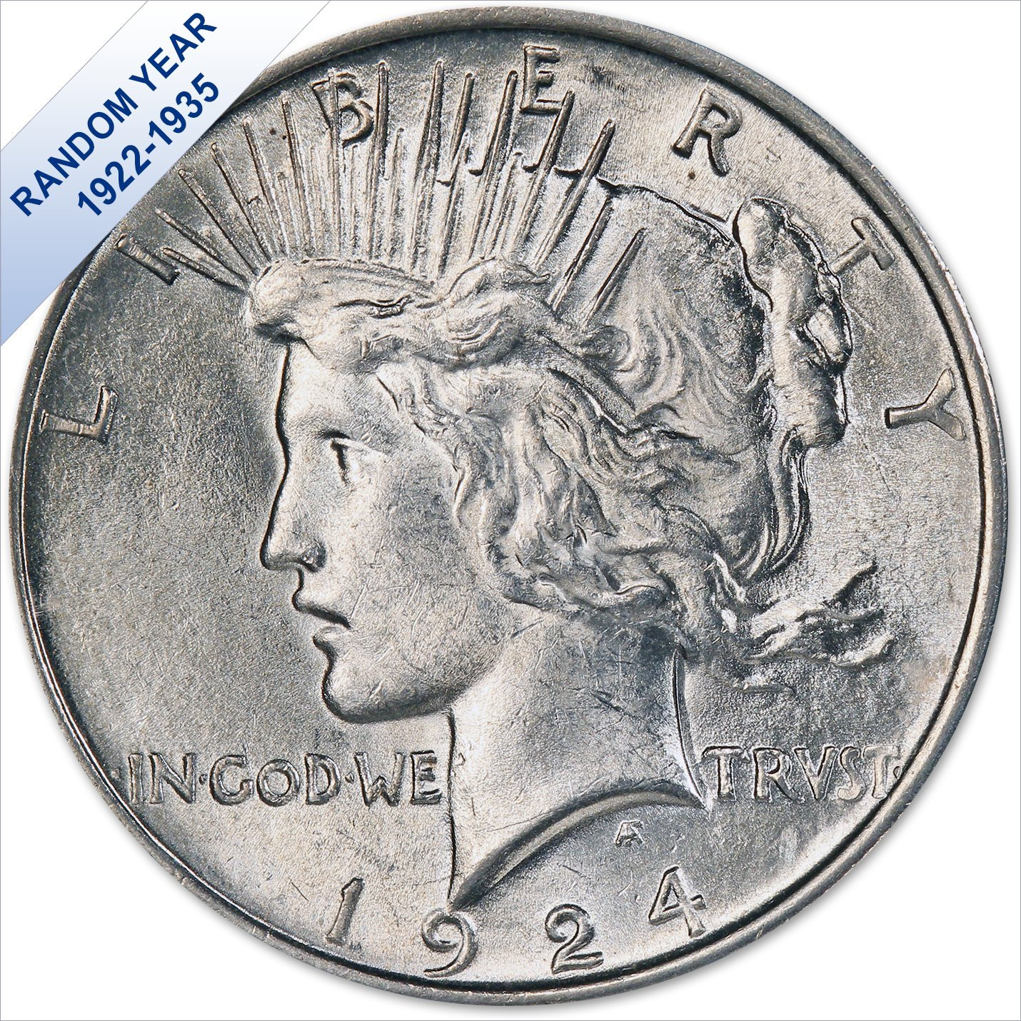 1922-1935 AU Grade Peace Silver Dollar RANDOM DATE
