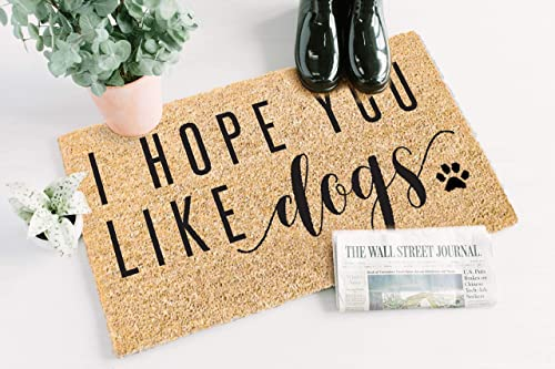 Printed Coir Doormat – Pets – Flocked I Hope You Like Dogs