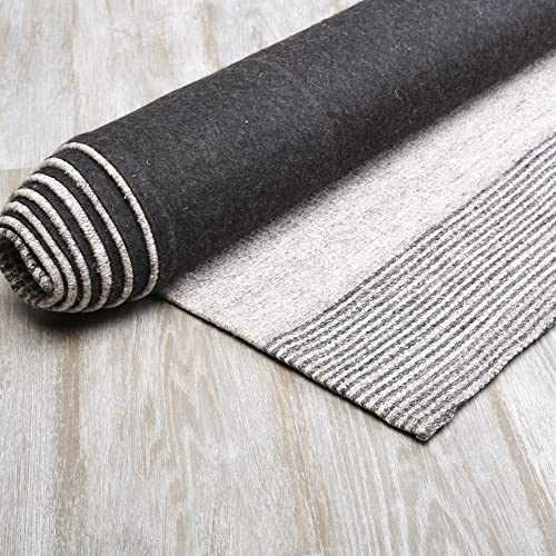Best Home Fashion – Grey Color Block Wool Rug 5 x 8