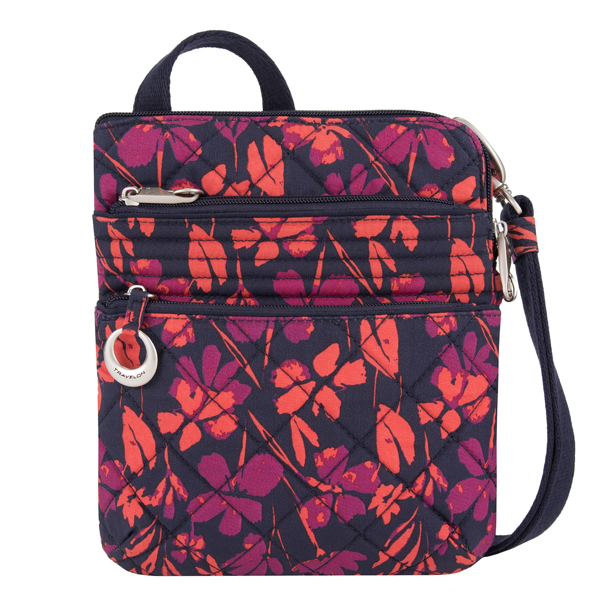 Travelon Women's Anti-theft Boho Slim Bag, Painted Floral