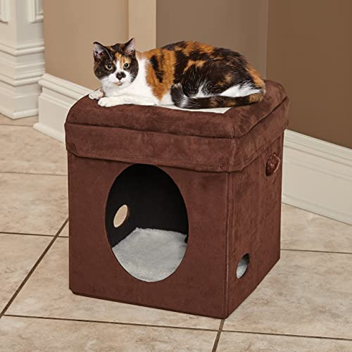 MidWest Curious Cat Cube, Cat House Cat Condo