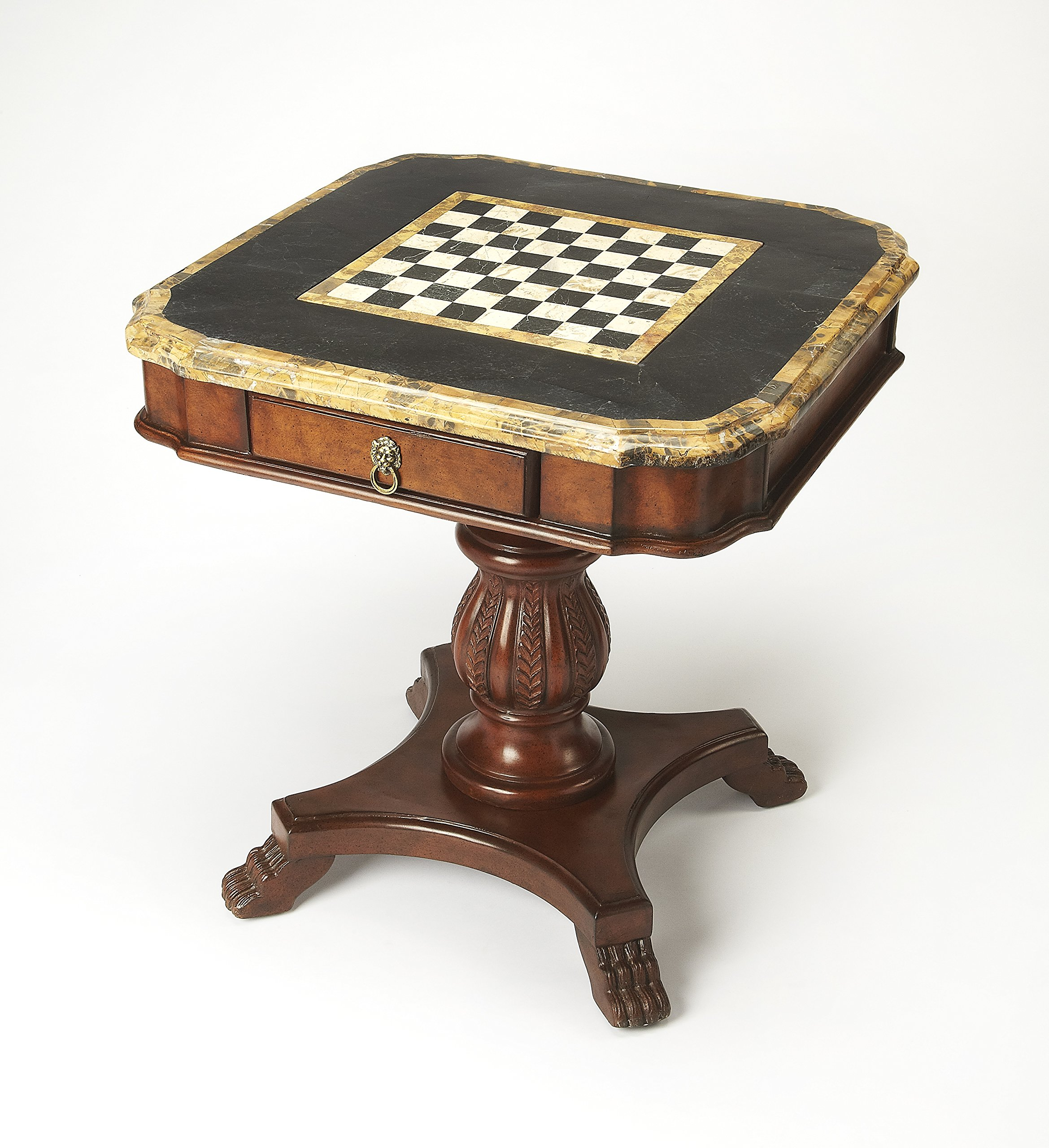 BUTLER CARLYLE FOSSIL STONE GAME TABLE by Butler specality company