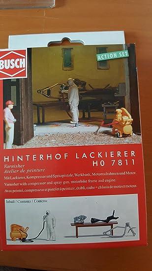 Busch 7811 Hinterhof Lackierer Spur Ho 1 87 Bausatz Amazon