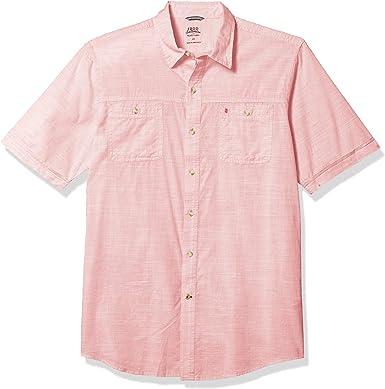 Izod Slim Fit Dockside Button Down Long Sleeve Solid Shirt Camisa Abotonada para Hombre