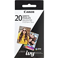 Canon Zink Photo Paper Pack 20 Sheets 4.25in. x 2.50in. x 0.75in. White