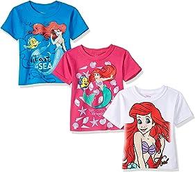 Disney Girls' the Little Mermaid Ariel 3-Pack T-Shirt