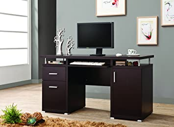 coaster home furnishings computer desk cappuccino