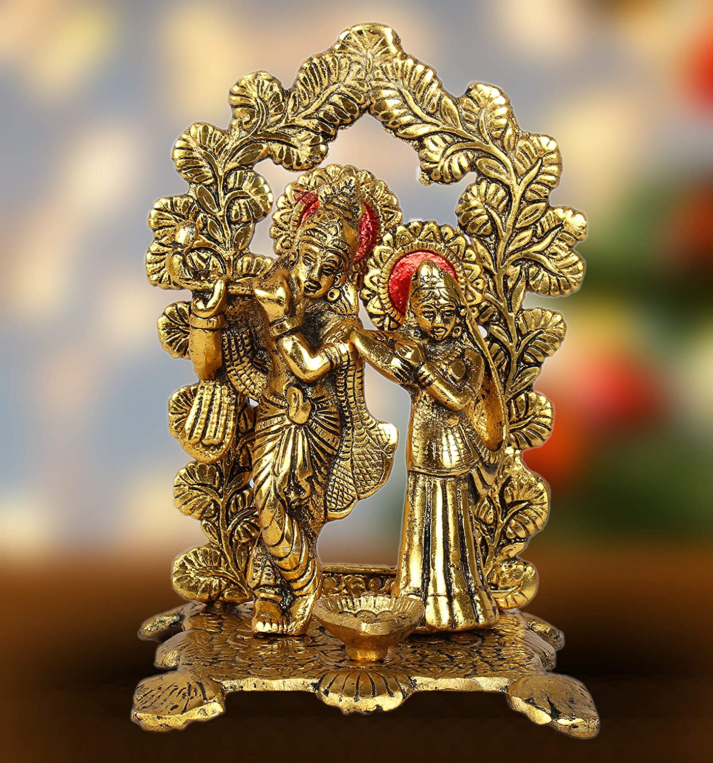 Buy Dreamkraft White Metal Lord Radha Krishna Idol Showpiece For