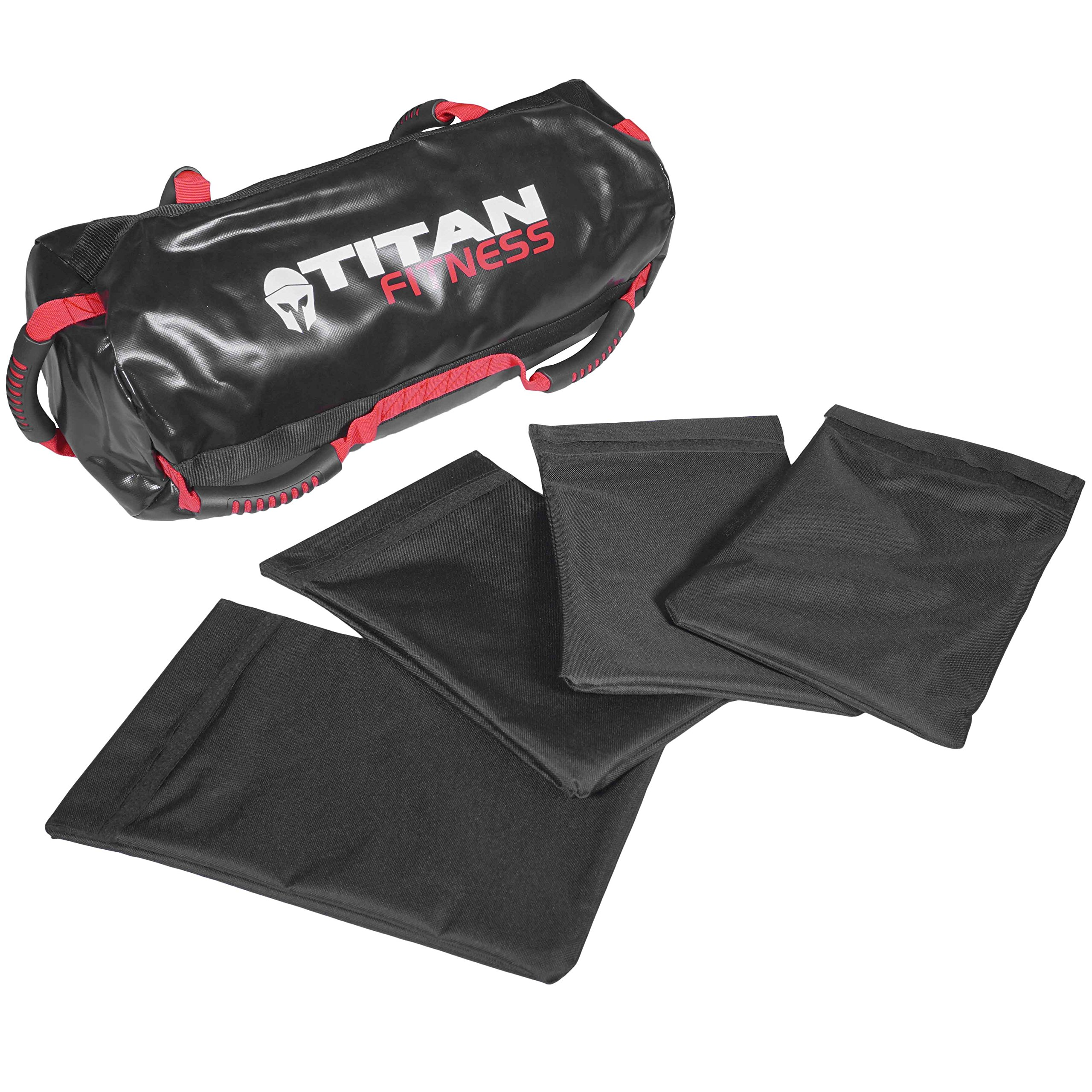 Titan Fitness 40 lb Heavy Duty Workout Weight Sandbag Exercise Training Bag by Titan Fitness