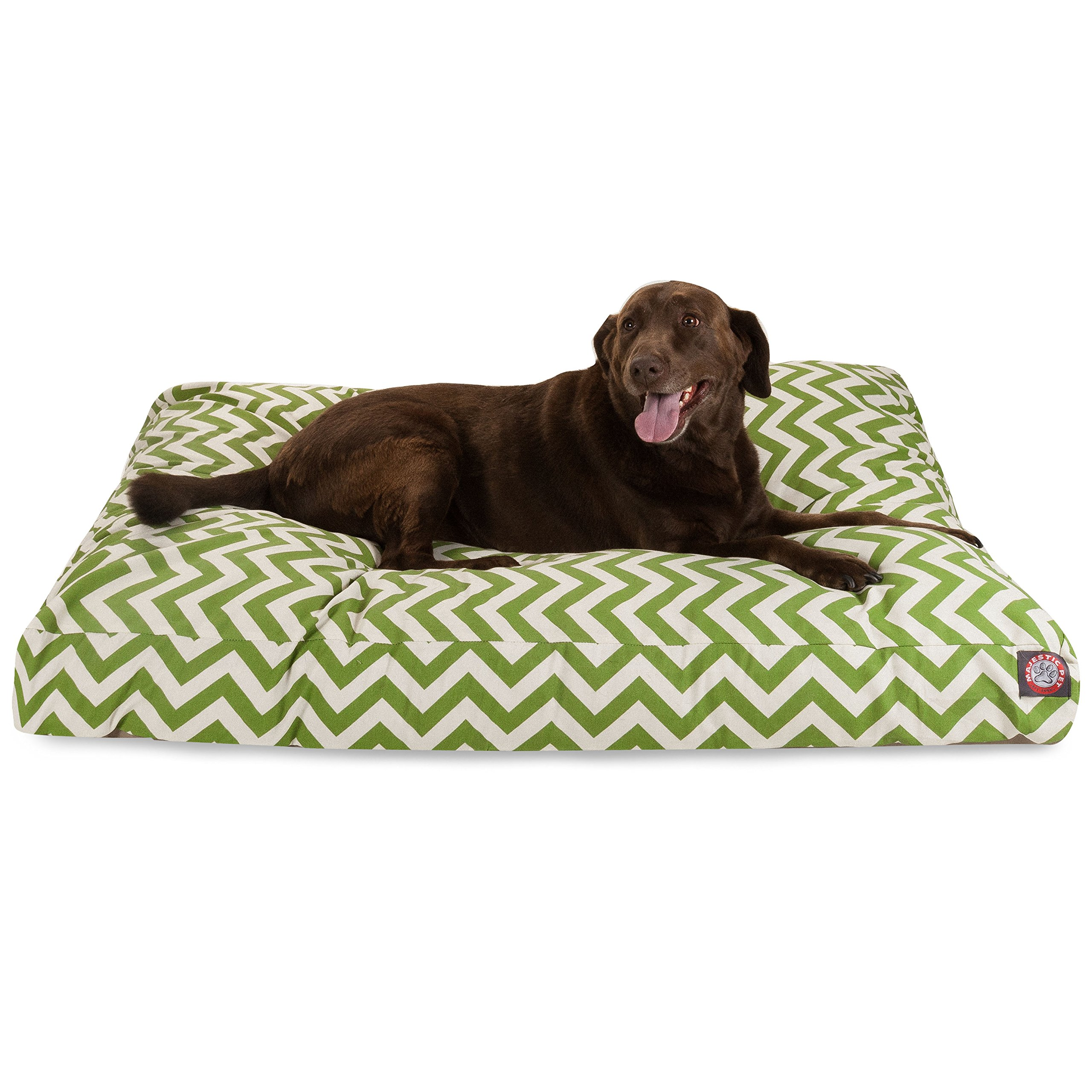 Sage Chevron Extra Large Rectangle Indoor Outdoor Pet Dog Bed With Removable Washable Cover By Majestic Pet Products