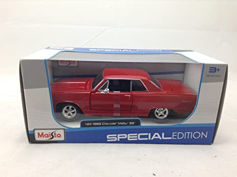 Amazon com: 1965 Chevrolet Malibu SS Red 1:24 Diecast Model