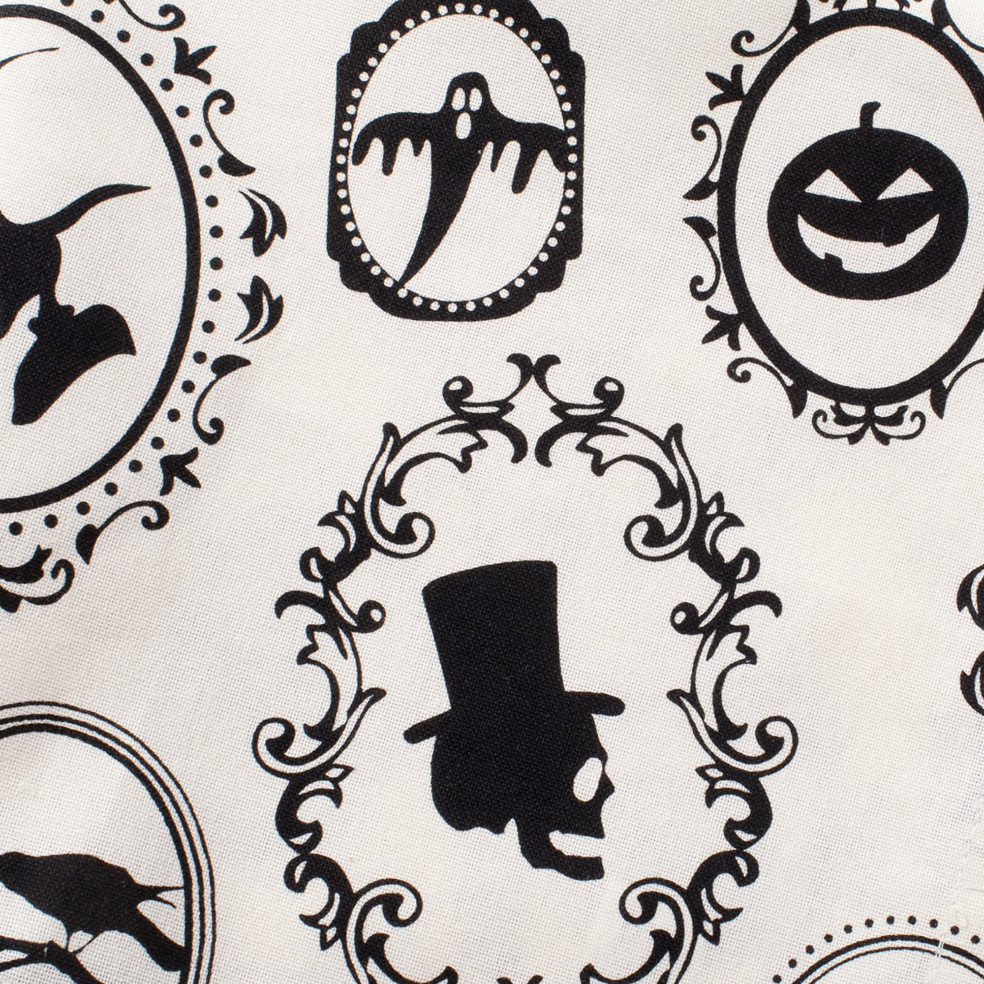 DII Oversized 20x20'' Cotton Napkin, Black & White Halloween Portrait - Perfect for Halloween, Dinner Parties and Scary Movie Nights by DII (Image #4)
